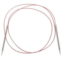 """Red Lace Stainless Steel Circular Knitting Needles 60""""-Size 3/3.25Mm"""