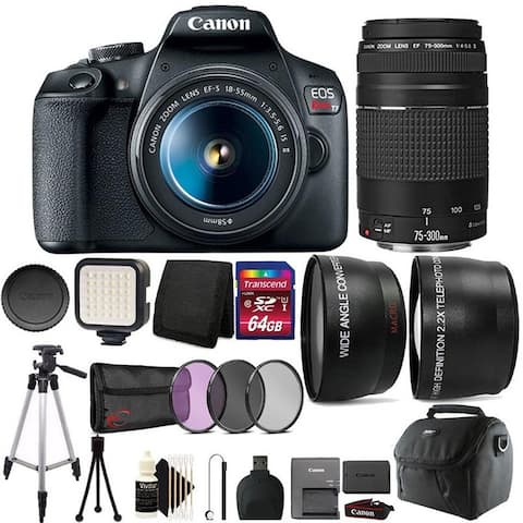 Canon EOS Rebel T7 DSLR Camera with 18-55mm Lens and 75-300mm Lens Kit