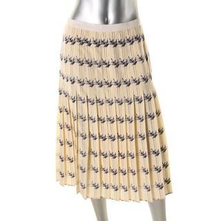 Tory Burch Womens Silk Printed Pleated Skirt - 2