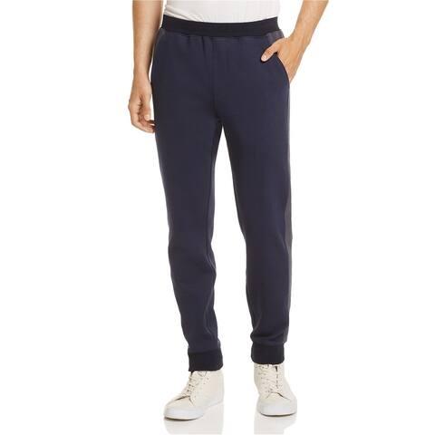 ATM Mens Colorblock Casual Jogger Pants, Blue, Small