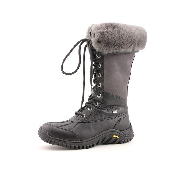 Ugg Australia Adirondack Tall Women Round Toe Leather Black Winter Boot