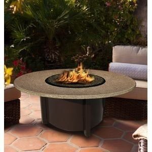 California Outdoor Concepts 5010-BR-PG3-SUN-42 Carmel Chat Height Fire Pit-Br...