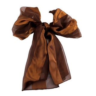 Satin Elegant Solid Long Scarf 13 Inches x 60 Inches