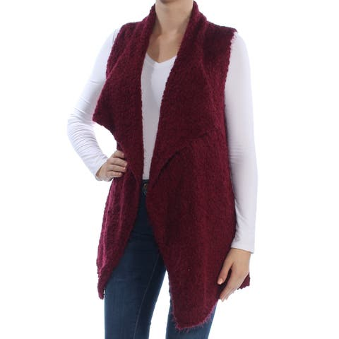 KENSIE Womens Maroon Sleeveless Vest Sweater Size: M