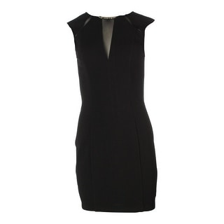 Guess Womens Embellished Mesh Inset Cocktail Dress - 4