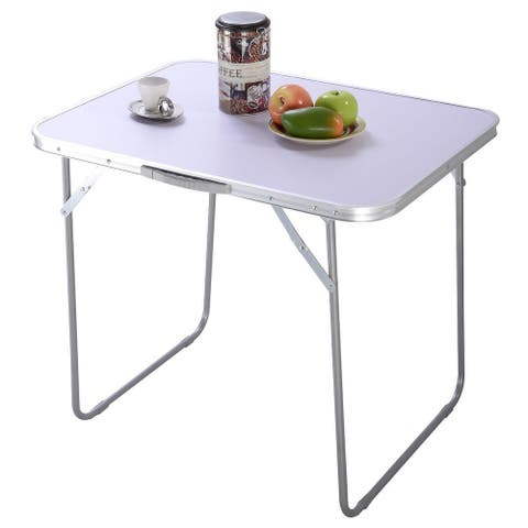 In / Outdoor Dining Camping Portable Folding Table - White