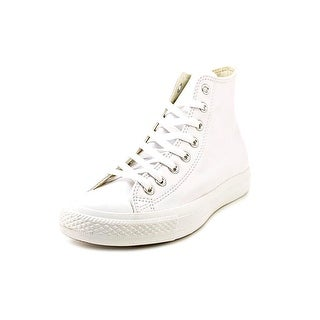 Converse Chuck Taylor All Star Leather Hi Men Round Toe Leather White Sneakers