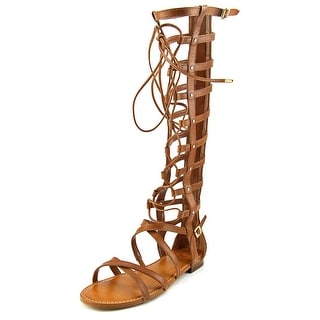 Vince Camuto Mesta Women Open Toe Leather Brown Gladiator Sandal