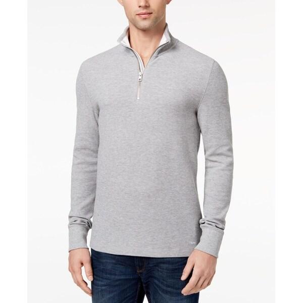 8cff0057c Shop Michael Kors Melange Mens 1/2 Zip Pullover Jacket - On Sale - Free  Shipping On Orders Over $45 - Overstock - 26900009