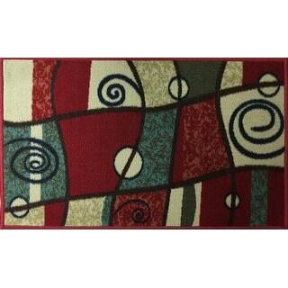 "Swan Comfort Home Fashion Printed Doormat Scrape Dirt & Grass Textured Grip Bottom 18"" x 31"""