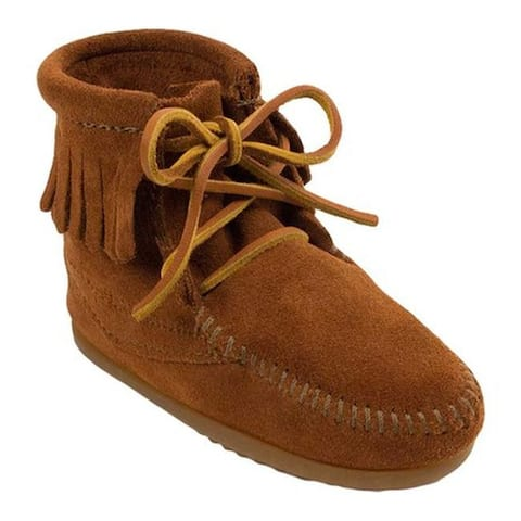 Minnetonka Children's Ankle Hi Tramper Boot Brown Suede