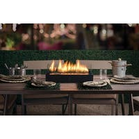 """20"""" Decorative Propane Fueled Lara TableFire Firebowl Insert with Amber Sunset LavaGlass - CLEAR"""