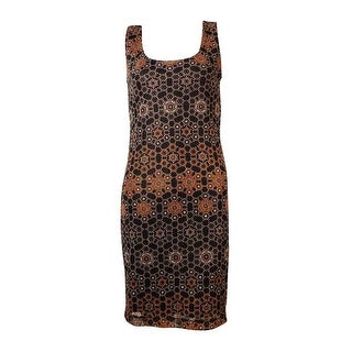 Bar III Women's Sleeveless Geometric Print Dress - m