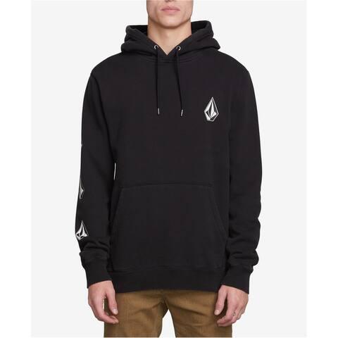 Volcom Mens Wash Deadly Hoodie Sweatshirt, Black, Large