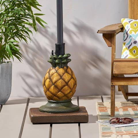 """Ferrer Pineapple Umbrella Base by Christopher Knight Home - 14.00"""" W x 14.00"""" L x 18.00"""" H"""