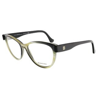 Balenciaga BA5004/V 064 Yellow Black Horn Oval prescription-eyewear-frames - 53-15-140