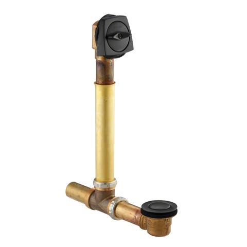 """Kohler K-7161-AF Clearflo 1-1/2"""" Tub Drain Kit - with Overflow and Brass Tailpiece"""