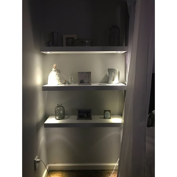 Wall Mounted White Floating Shelf
