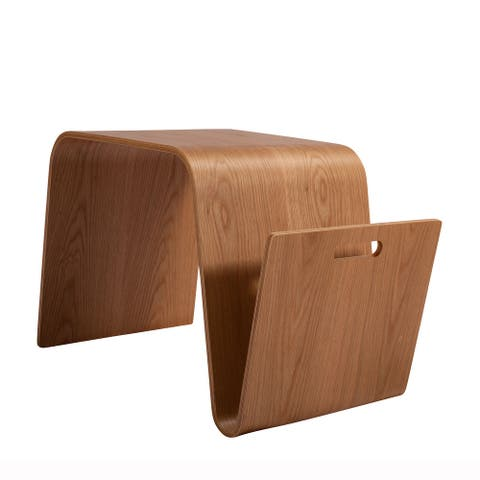 Bentwood Side Table, American White Oak