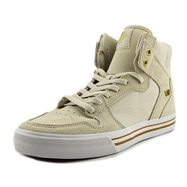 Supra Vaider Men Round Toe Canvas Ivory Skate Shoe