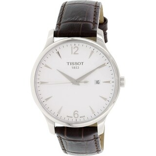 Tissot Men's T063.610.16.037.00 Silver Leather Swiss Quartz Dress Watch