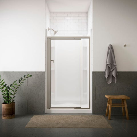 "Sterling 1505D-42 Vista Pivot II 65-1/2"" High x 42"" Wide Hinged Framed Shower Door with Pattern or Frosted Glass"