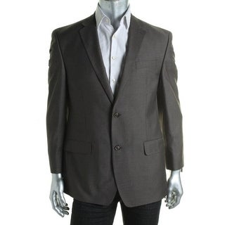 Sean John Mens Pindot Notch Collar Two-Button Blazer - 38R