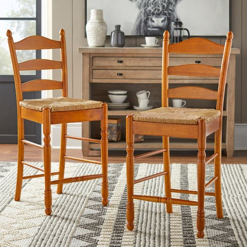 Simple Living Ladder back 24-inch stool (Set of 2)