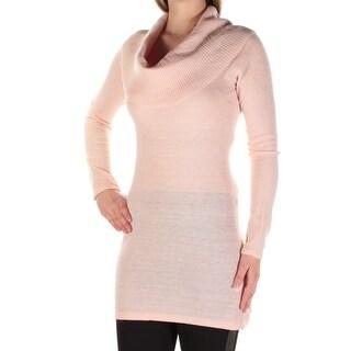 ENERGIE $19 Womens New 1315 Pink Cowl Neck Long Sleeve Sweater M Juniors B+B