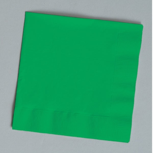 Touch Of Color 50 Count Beverage Napkins Emerald Green - Multi