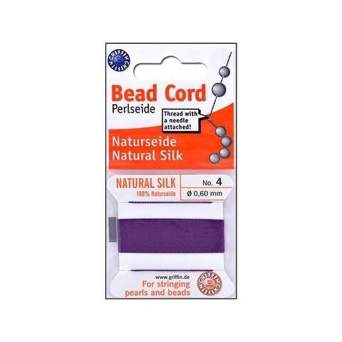 Beadalon Griffin 100% Silk Bead Cord Sz4 2M Amethy