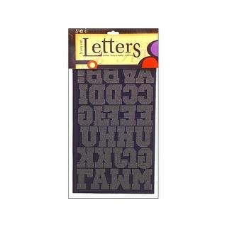 "SEI Iron On Art Transfer Letters Sport 1.5"" Black"