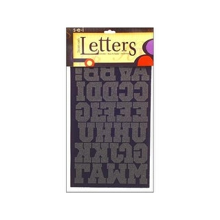 "SEI Iron On Art Transfer Letters Sport 1.5"" Black"