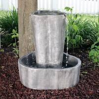 Sunnydaze 3-Stream Electric Outdoor Garden Patio Water Fountain - 26-Inch