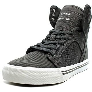 Supra Skytop Youth Round Toe Canvas Gray Sneakers