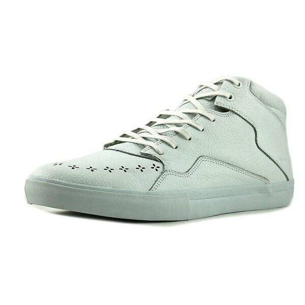 Diamond Supply Co Folk Mid Men Round Toe Leather White Sneakers