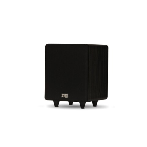 """Acoustic Audio PSW250-6 Home Theater Powered 6.5"""" LFE Subwoofer Front Firing Sub"""