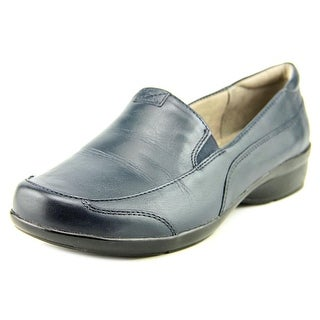 Naturalizer Channing Women W Round Toe Leather Blue Loafer