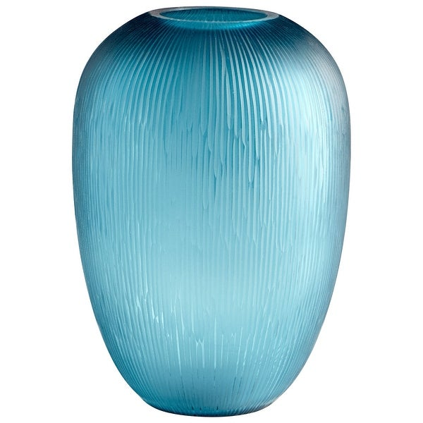 "Cyan Design 09209 Reservoir 9-1/4"" Diameter Glass Vase - Blue"