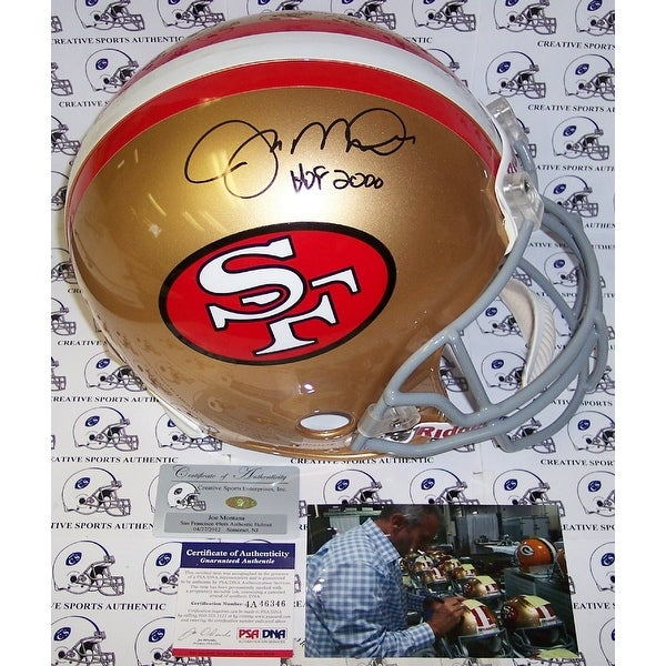 55763cb7587 Shop Joe Montana Hand Signed San Francisco 49ers Throwback Authentic Helmet  - PSA DNA - Free Shipping Today - Overstock - 13074721