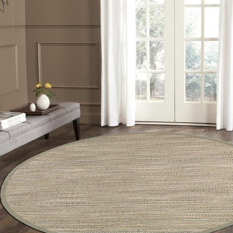 LR Home Natural Fiber Jute Distressed Stripe Rug
