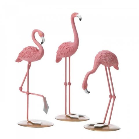 Tabletop Flamingo Decor Trio - Pink