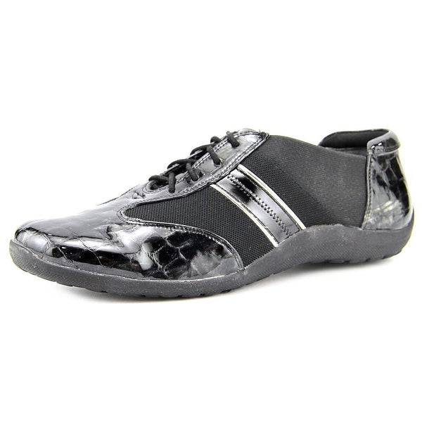 Ros Hommerson Nancy Women Black Croc/Patent Pewter Sneakers Shoes