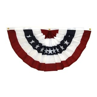 6' Red White And Blue American Flag Fan Bunting