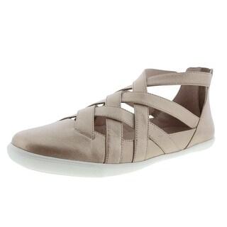 Sudini Womens Isa Leather Metallic Fashion Sneakers