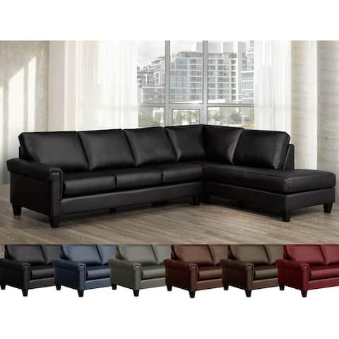 Brooke Top Grain Italian Leather Sectional Sofa