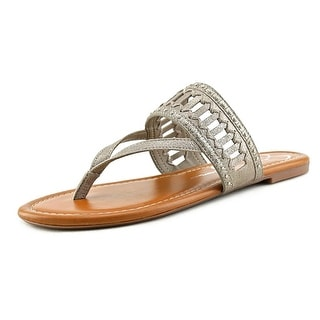 Jessica Simpson Ridgely Women Open Toe Leather Thong Sandal