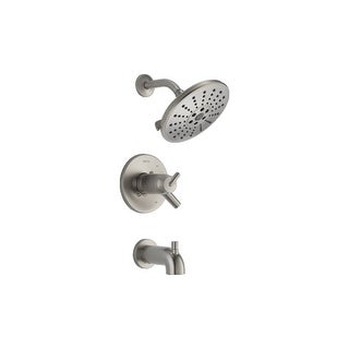 Delta T17T459-H2O  Trinsic TempAssure 17T Series Thermostatic Tub and Shower Trim Package with Integrated Volume Control