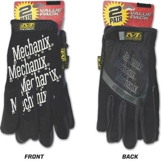 Mechanix Wear MBP-05-010 Original + Fast Fit Gloves, Black, Large