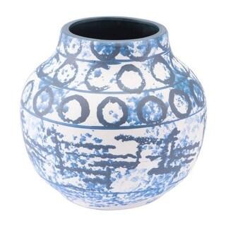 Small Vase Blue & White Ceramic